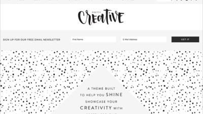 Pretty Creative Chic Feminine WordPress Theme