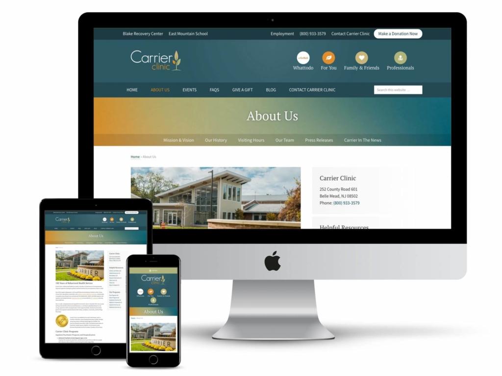 carrier clinic web design