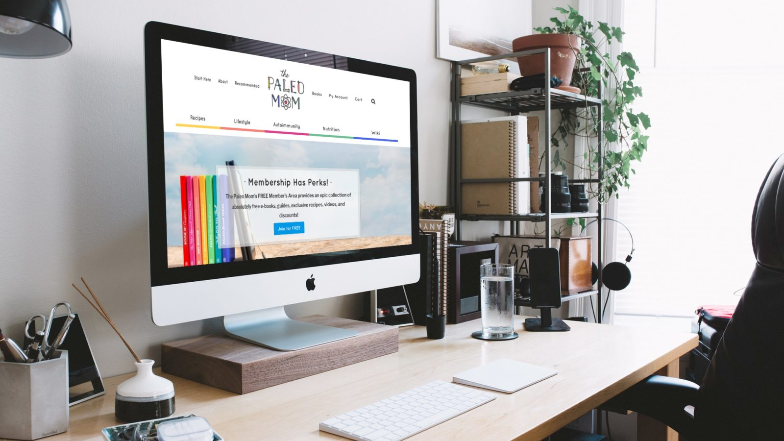 desktop computer displaying custom web design screen