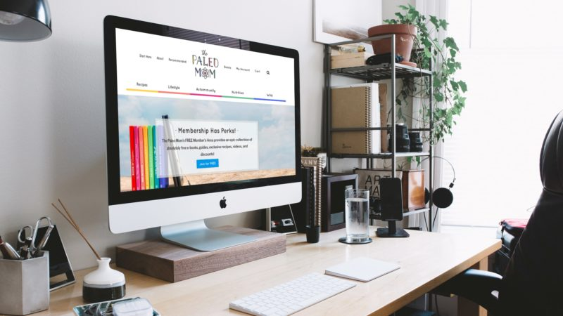 desktop computer displaying website built by expert WordPress developer