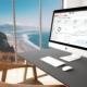 Desktop computer displaying marketing analytics screen