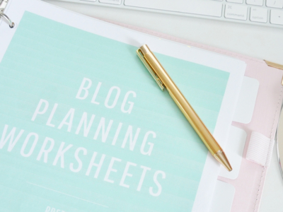 blog planning worksheets