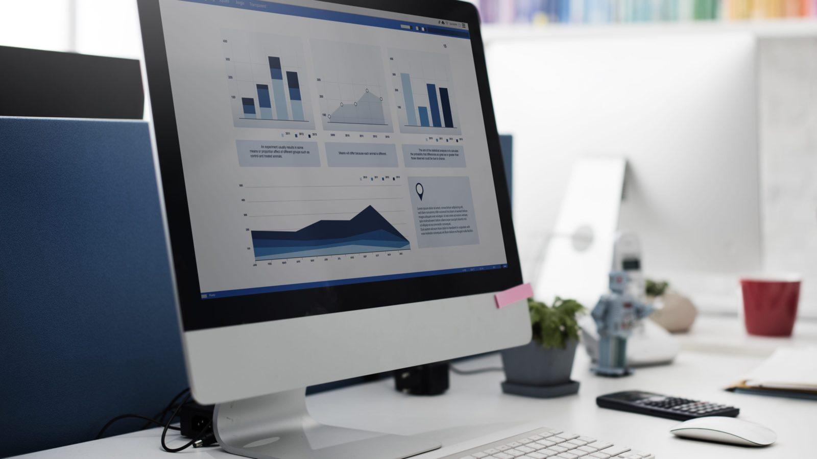 mac displaying analytics data for website monetization efforts