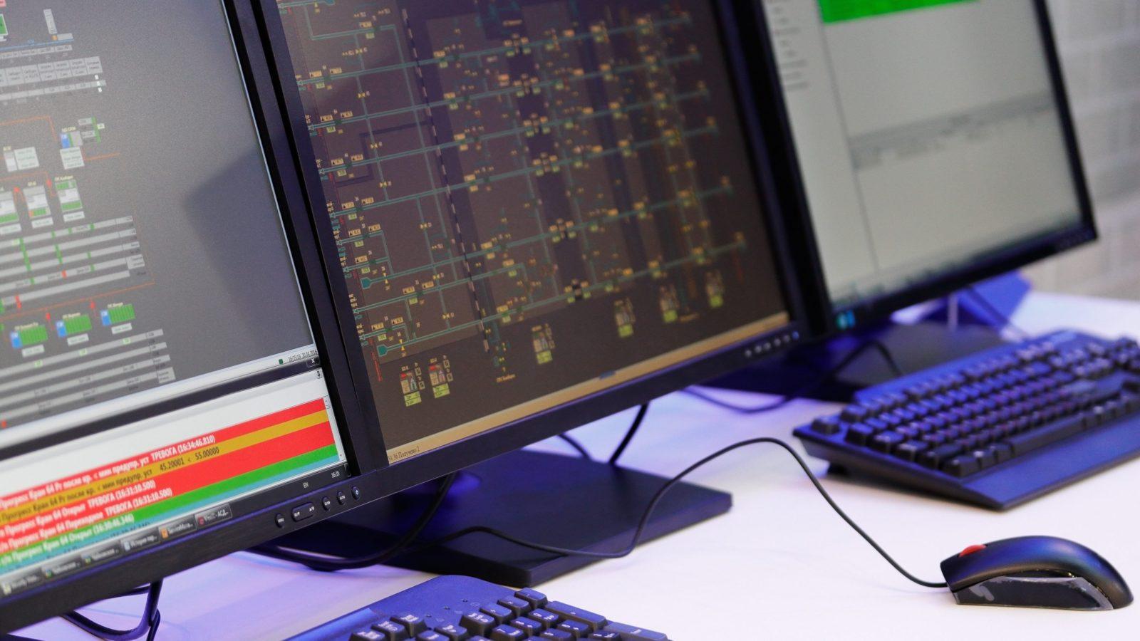 computer displays representing website hosting