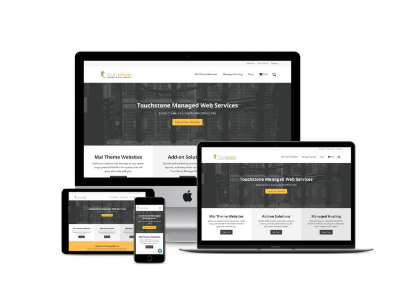 Touchstone Managed Web Services website design