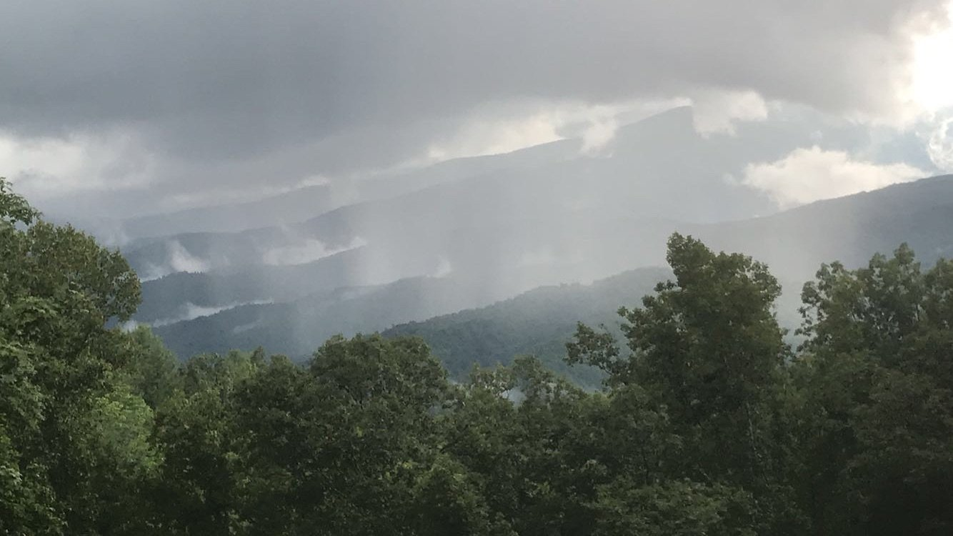 view of mountains from Blowing Rock NC