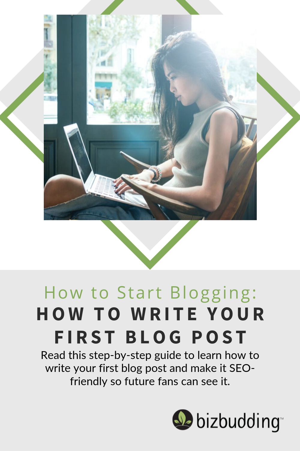 How to Write Your First Blog Post Pinterest Pin Image