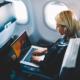 blogger on plane