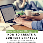 How to Create a Content Strategy Pinterest Pin Image