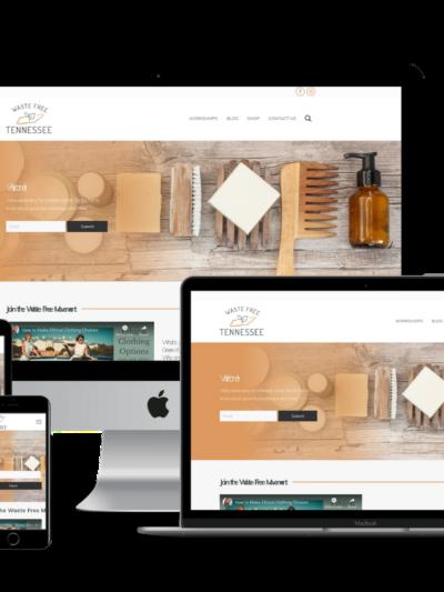 screenshot of Waste Free TN web design