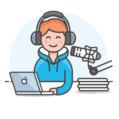 podcaster blogger icon