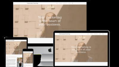 screenshot of Charissa Joy Consulting web design