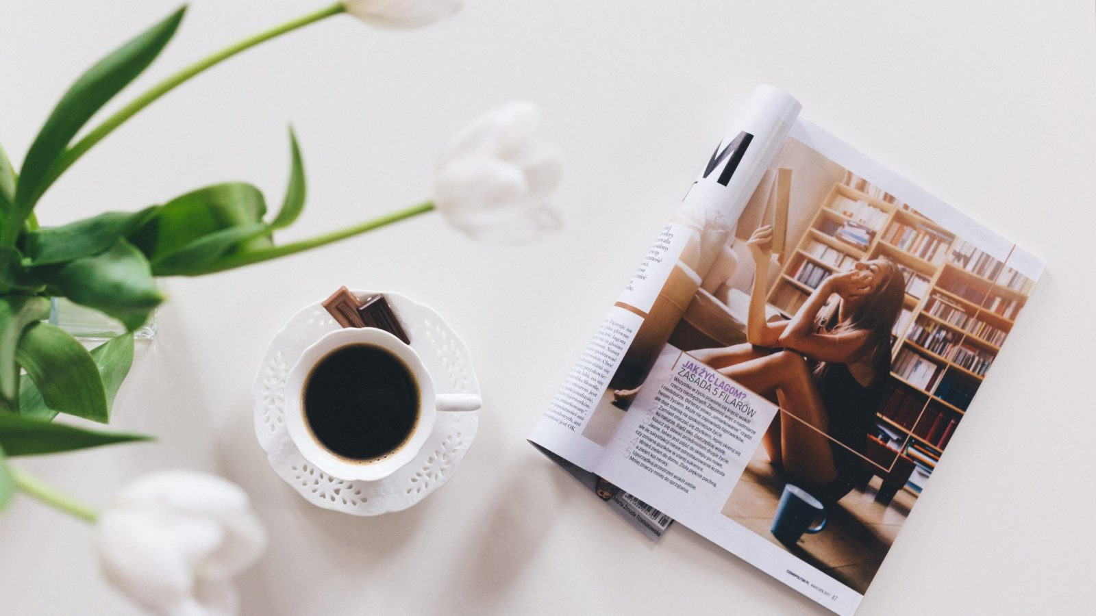 image of magazine and coffee