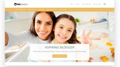 Image of Aspiring Blogger Solution theme demo