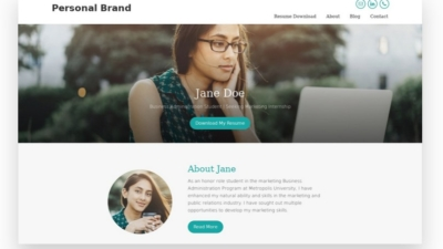 Image of Mai Personal Brand Solution theme demo