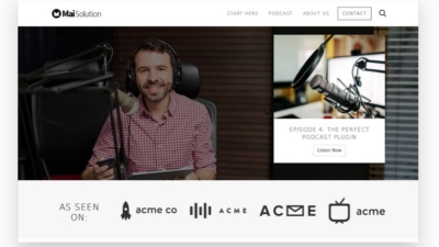 Image of Mai Podcaster Solution theme demo