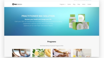 Image of Mai Wellness Practioner Solution theme demo
