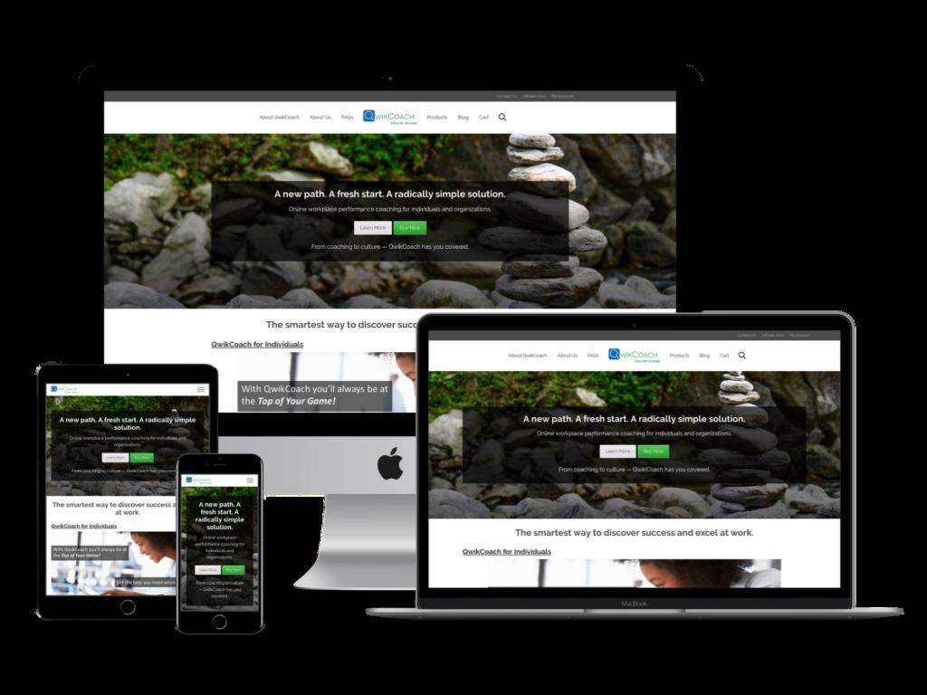 screenshot of QwikCoach web design