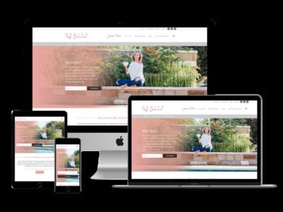 Screenshot of Revive by Janna web design