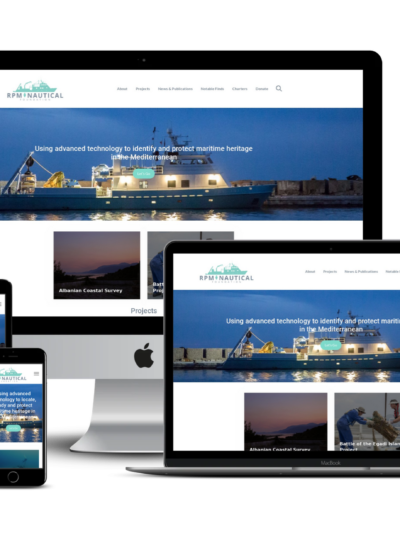 screenshot of RPM Nautical web design