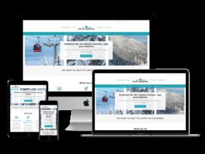 screenshot of SnowSports Digital Marketing web design