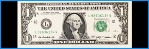Image of dollar bill in banner height