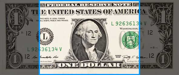 Image of dollar bill in featured size