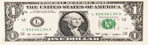 Image of Dollar bill horizontally stretched