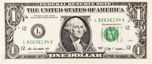 photo of a US dollar bill