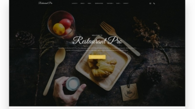 Image of Restaurant Pro demo site