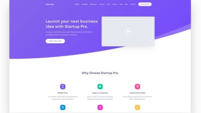 Image of Startup Pro demo site
