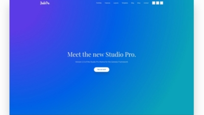 Image of Studio Pro demo site