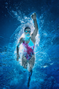 Image of swimmer underwater
