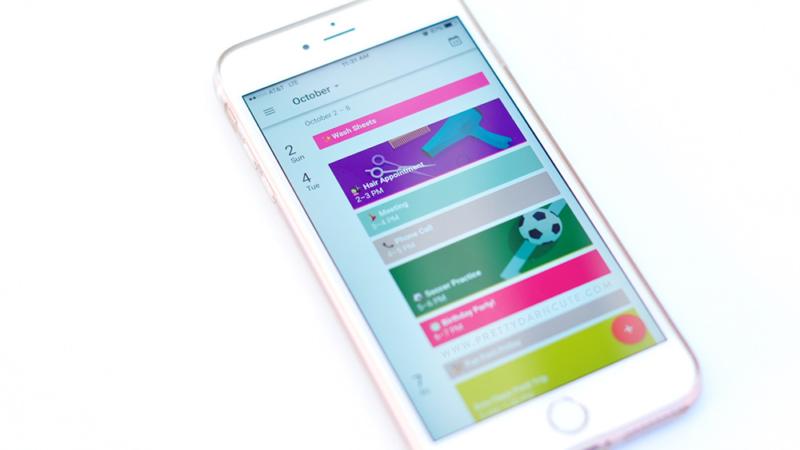 screenshot of Google calendar themed events on mobile