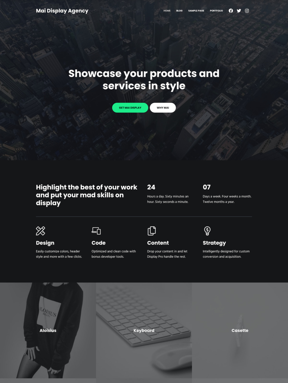 Demo image of Mai Display Agency page