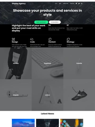 Mai Display Agency Theme Mockup