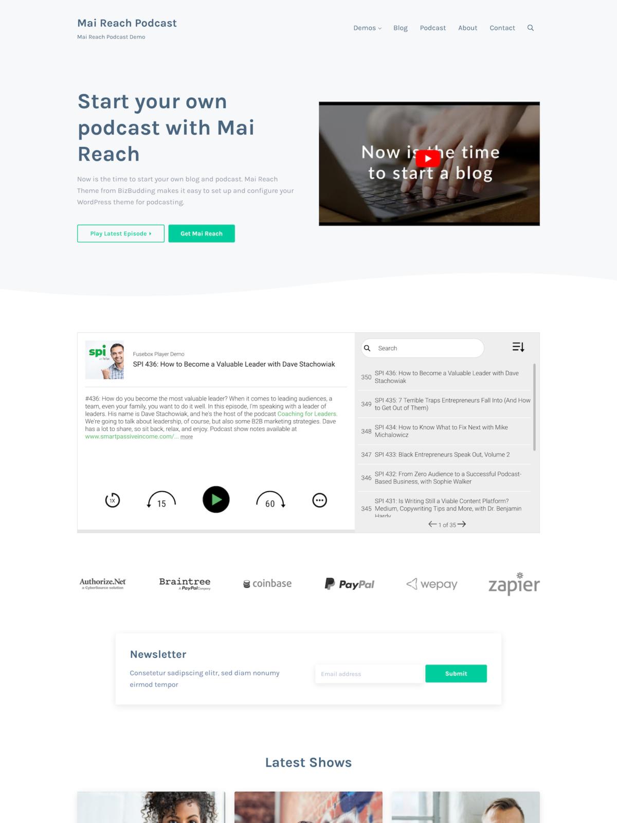 Mai Reach Podcast Theme Mockup