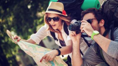 image of couple traveling