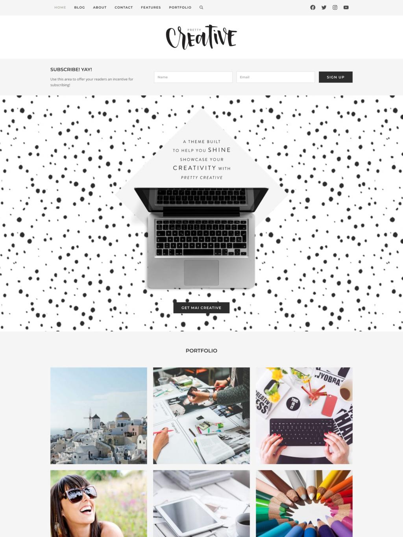 Mai Creative Portfolio Theme Mockup