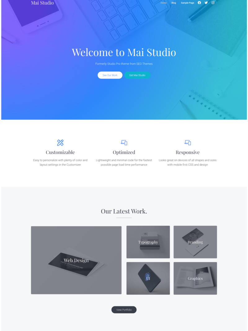 Mai Studio Agency Theme Mockup