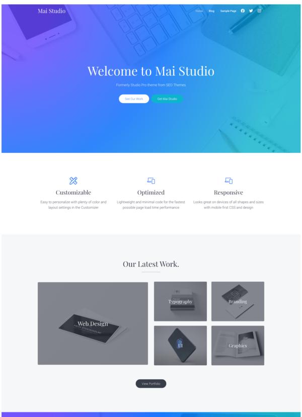 Mai Studio Agency Theme Mockup