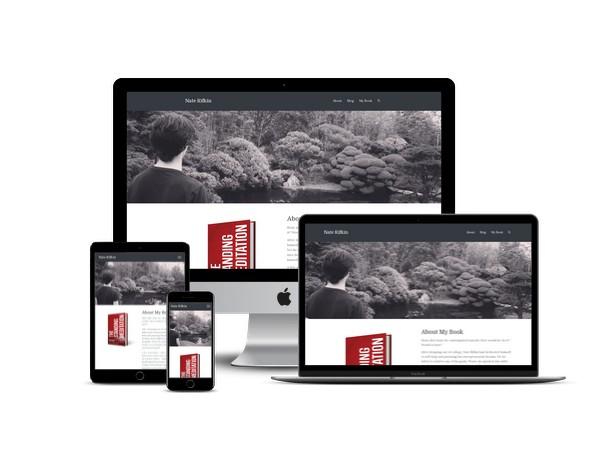 Nate Rifkin website mockup displayed on a desktop, laptop, tablet, and mobile phone