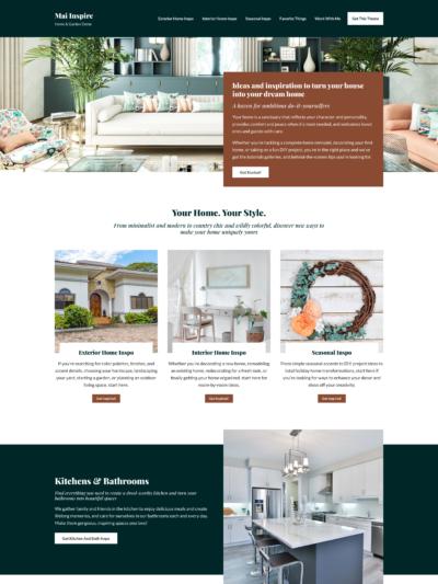 Mai Inspire Home & Garden Theme Mockup