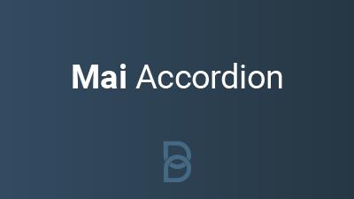 Mai Accordion product image