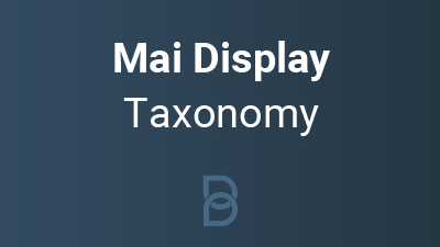 product photo for Mai Display Taxonomy