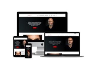 Julian Reeve website mockup displayed on a desktop, laptop, tablet, and mobile phone