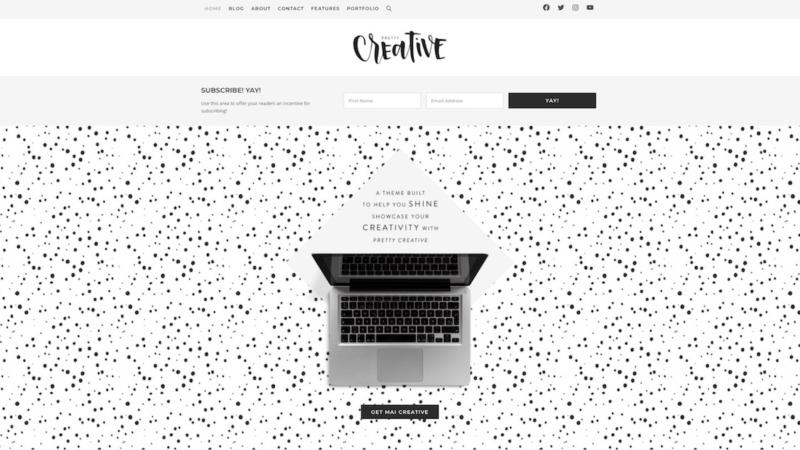 Mai Creative Portfolio website header