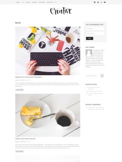 Demo image of a Mai Creative blog post layout