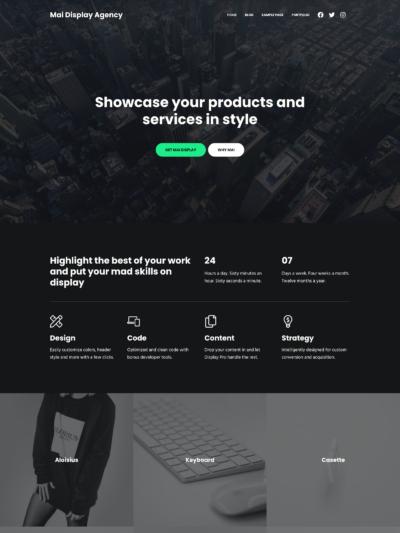Demo image of a Mai Display Agency homepage