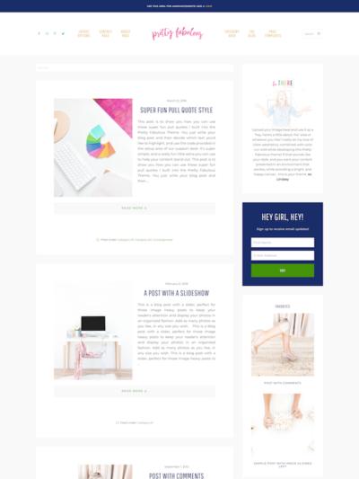 Demo image of a Mai Fabulous blog template